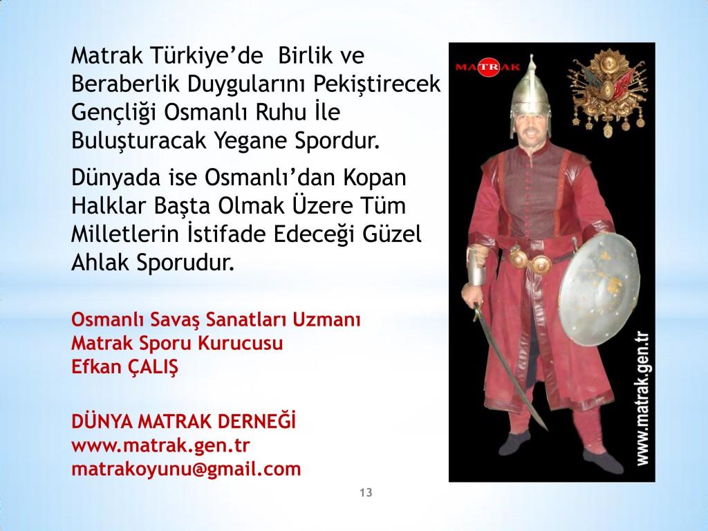 13 Adımda Osmanlı Sporu Matrak